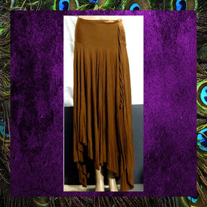 Long Skirt w/ Hankerchief Hemline  #SKRT-002